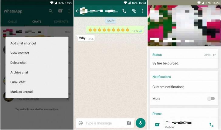 نسخه جدید واتس اپ در اندروید با امکانات جدید