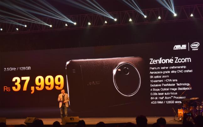 تلفن هوشمند Asus Zenfone Zoom با دوربین ۱۳ مگاپیکسلی در هند رونمایی شد