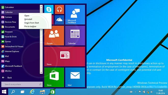 فاش شدن اسکرین شات های پیش نمایش ویندوز 9