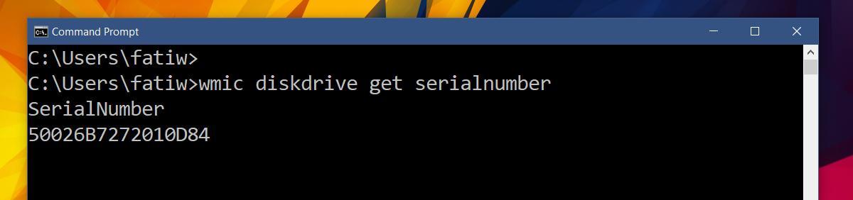 wmic diskdrive get serialnumber