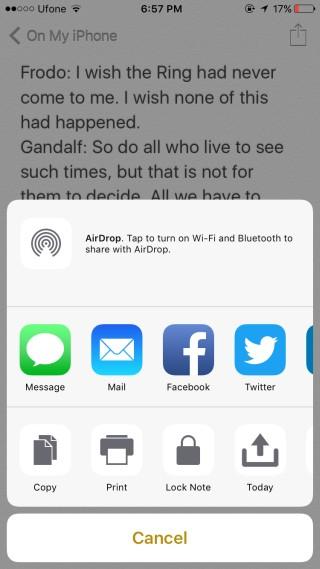 اضافه کردن یادداشت به Lock Screen