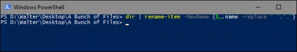 تغییر نام چندین فایل با استفاده از Powershell