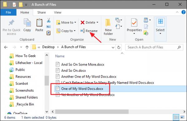 تغییر گروهی نام فایل در ویندوز