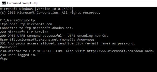 اتصال به سرور FTP بدون نرم افزار در ویندوز