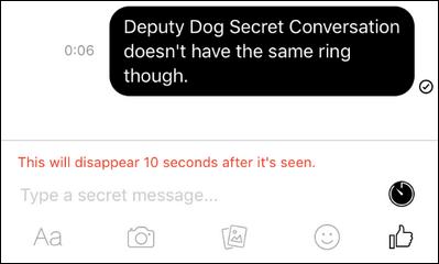 ارسال پیام رمز نگاری در فیس بوک
