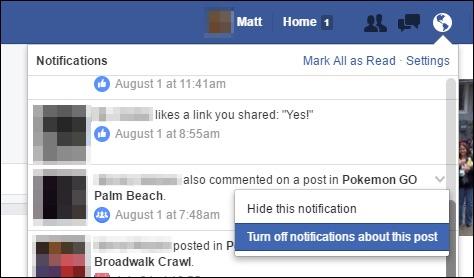 دریافت نوتیفی های فیس بوک