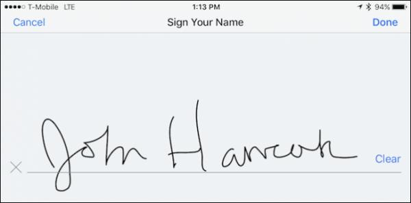 امضای PDF در دراپ باکس در iOS