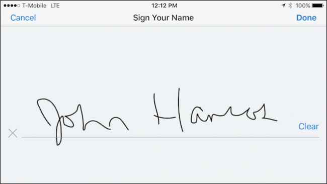 چگونه از طریق Dropbox در iOS فایلهای PDF را امضا کنیم؟