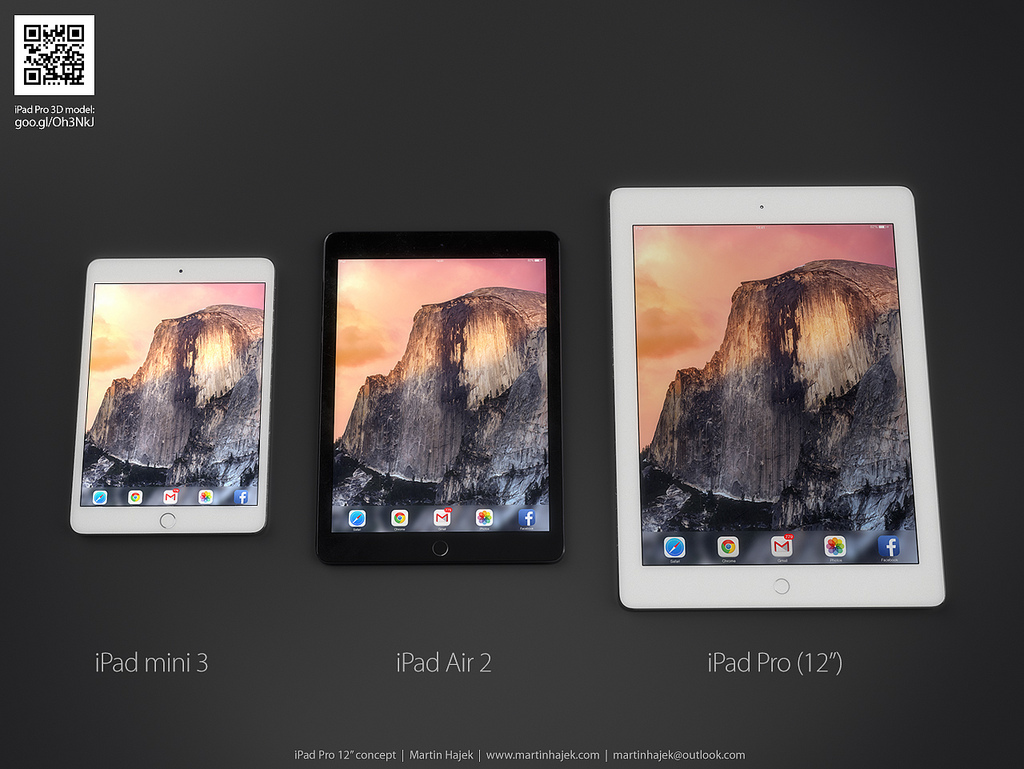 آیپد پرو با بالاترین تکنولوژی صفحه نمایش در سال ۲۰۱۶ عرضه می شود
