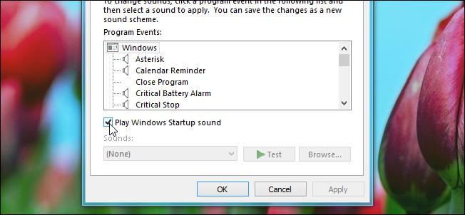 چگونگی فعال یا غیر فعال نمودن صدای آغازین یا راه انداز سیستم در ویندوز 8