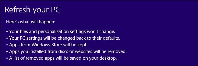 Windows 8-Refresh