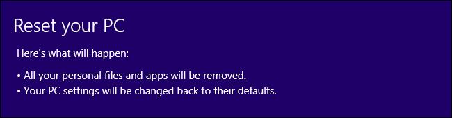 Windows 8-Reset