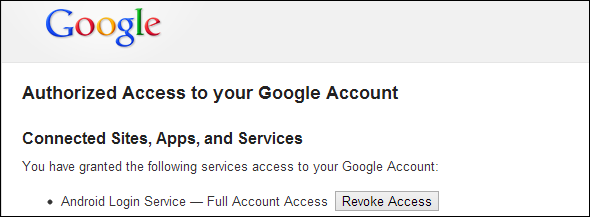 Google Account Authentication