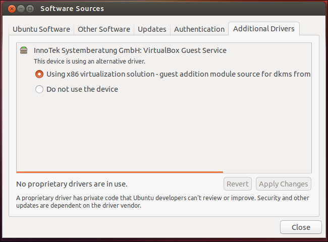 Additional Drivers - Ubuntu