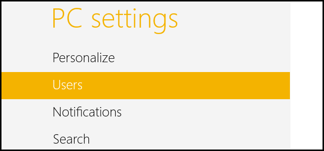 Windows 8-PC Settings-Users