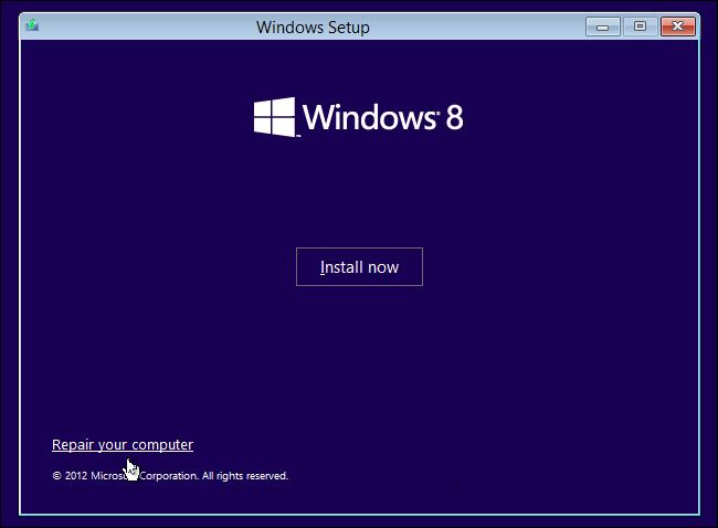 Windows 8- Repair Your Computer