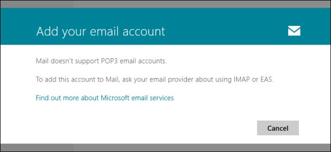 آموزش دسترسی به POP3 Email Accounts در ویندوز 8