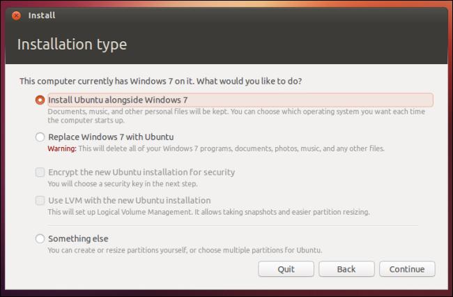 Wubi-Install Ubuntu