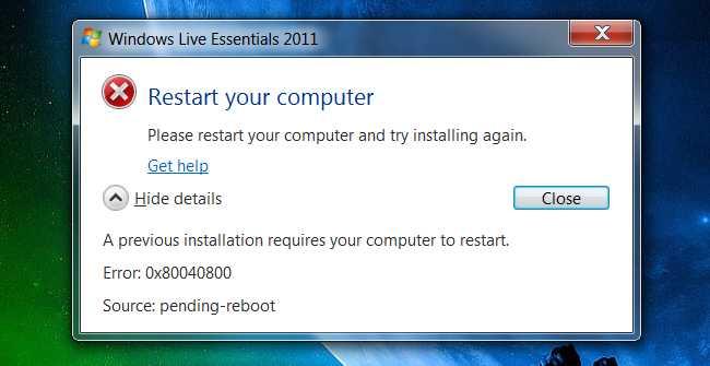 چرا برای نصب برخی از نرم افزار ها باید رایانه را ری استارت کنیم