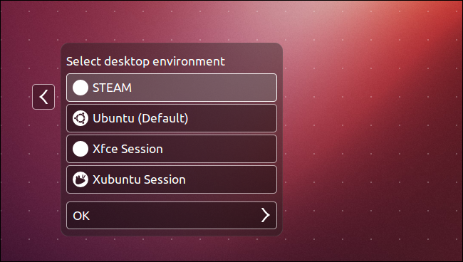 Steam- Ubuntu's Login Screen