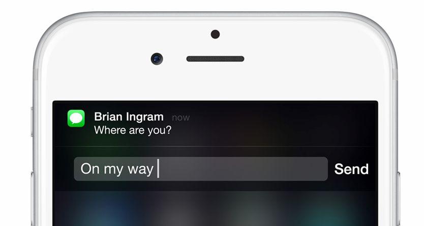 راهنمای iOS 8: پاسخ دادن به مسیجها از طریق پاپآپها