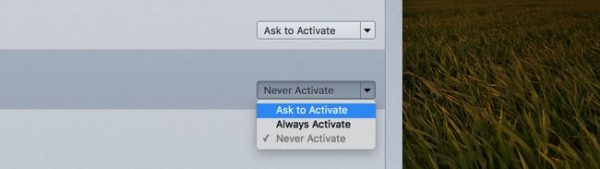 Ask to Activate