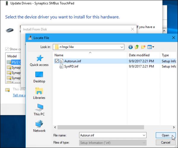 درایور های تاچ پد Precision مایکروسافت