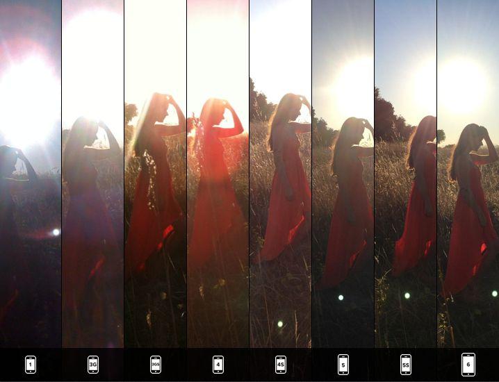 مقایسه دوربین تمامی مدل های آیفون با یک تصویر