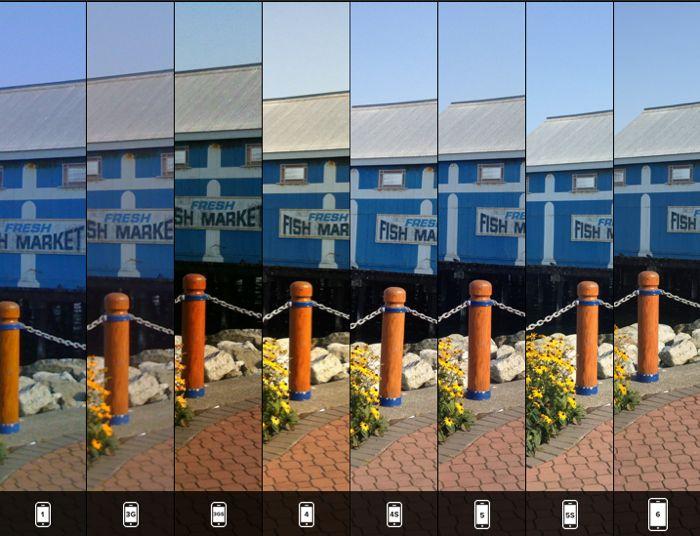 مقایسه دوربین تمامی مدل های آیفون با یک تصویر  Side By Side