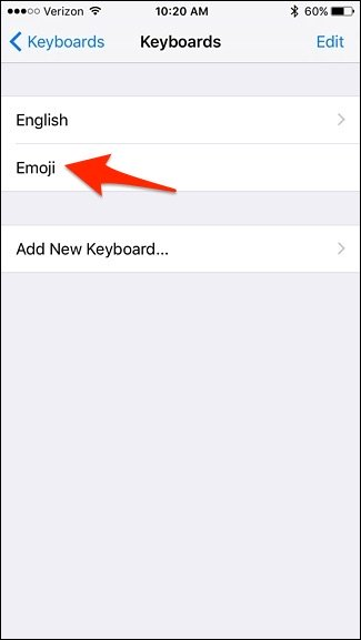 Emoji ها روی کیبرد آیفون