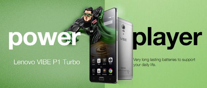 تلفن هوشمند جدید لنوو با قابلیت شارژ سریع Vibe P1 Turbo