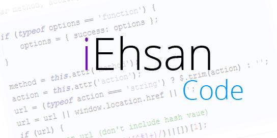 iEhsan Code مطمئن ترین سایت میزبان jQuery