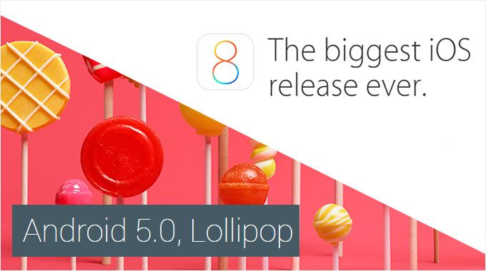 مقایسه بهترین ها : iOS 8.1 و Android 5.0 Lillipop ( قسمت اول )