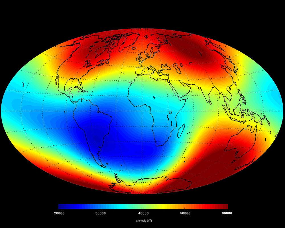 کشف میدان مغناطیسی زمین توسط کوزه رسی
