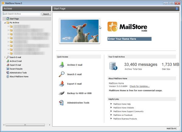 MailStore Home5 منتشر شد، نرم افزار پشتیبانی ایمیل