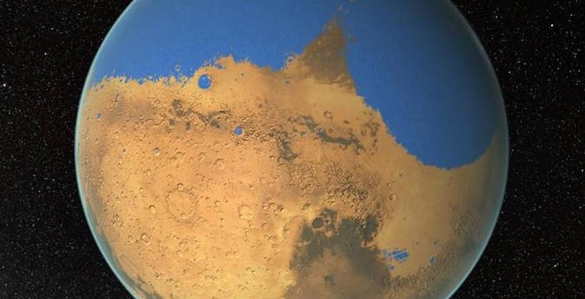 ناسا می گوید مریخ زمانی بیشتر از اقیانوس منجمد شمالی دارای آب بوده است