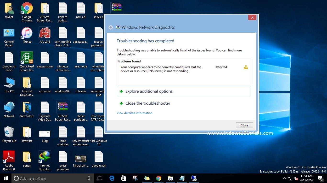 10 راه حل برای مشکل DNS server not responding در ویندوز 10, 8 , 7