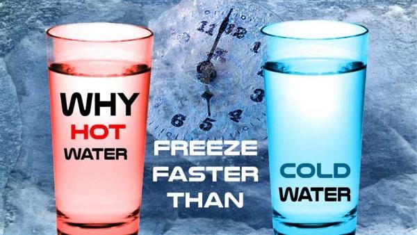 آب داغ زودتر از آب سرد یخ می زند؟