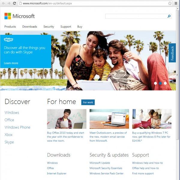 سایت جدید مایکروسافت راه اندازی شد