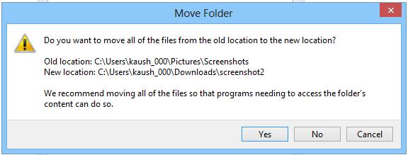 درویندوز8 چگونه محل پوشه تصاویر اسکرین شات را جا به جا کنیم ؟