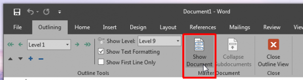 how-to-create-a-master-document-and-subdocuments-in-ms-word-2016