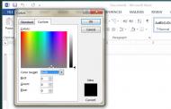 آموزش تنظیم رنگ بر اساس کد RGB در WORD