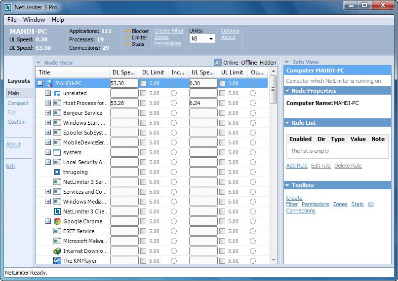netlimiter-training-main1.pngآموزش کار با نرم افزار NetLimiter برای مدیریت پهنای باند سیستم