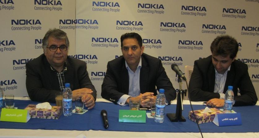 مديران ارشد نوكيا در ايران (نفر وسط آقاي فروهر فروتن، سمت چپ تصوير آقاي شفيعپور و سمت راست تصوير آقاي كاظمي)