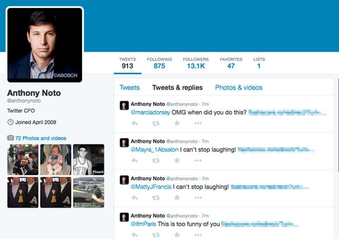 حساب کاربری توییتر مدیر ارشد مالی این شبکه اجتماعی هک شد!
