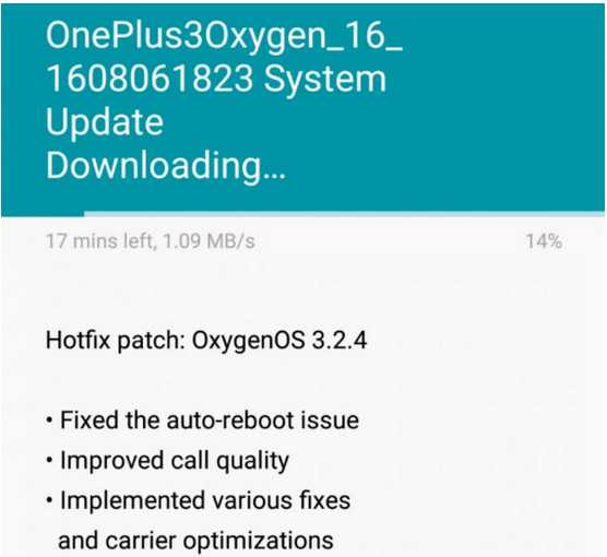 one plus 3 update