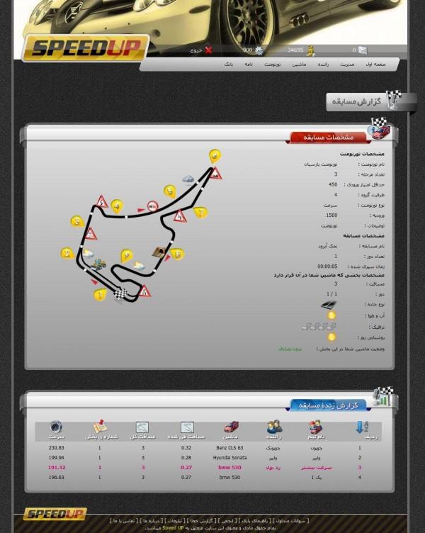 صفحه گزارش آنلاین (مهیجترین بخش بازی)