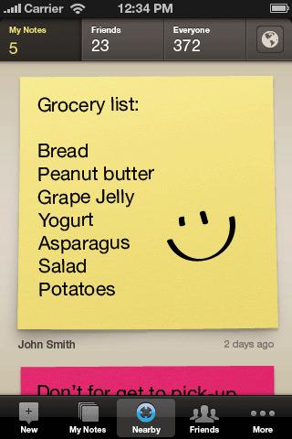 ایجاد یادداشت های قابل اشتراک گذاری  مبتنی بر موقعیت با Post-It PopNotes