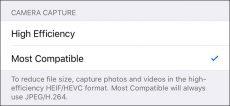 آموزش تنظیم فرمت های JPG و MPEG-4 به جای فرمت های جدید تصویری اپل
