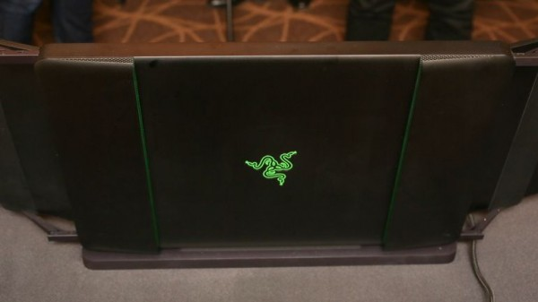 gaming laptop with a triple-screen surprise